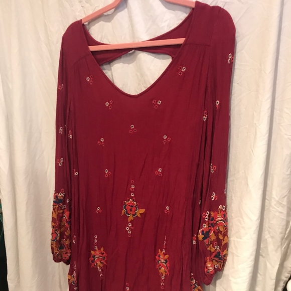 Free People Dresses & Skirts - Free People peasant embroidered dress tunic